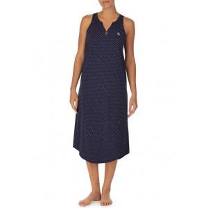 Lauren Ralph Lauren Sleeveless Split Neck Long Sleep Gown