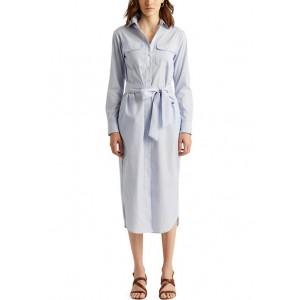Lauren Ralph Lauren Striped Cotton Broadcloth Shirtdress