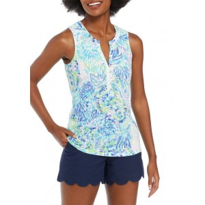 Lilly Pulitzer® Women's Sleeveless Floral Split Neck Top