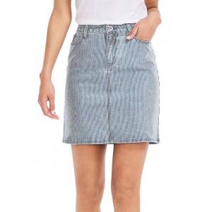Nautica Women's Striped Denim Skirt