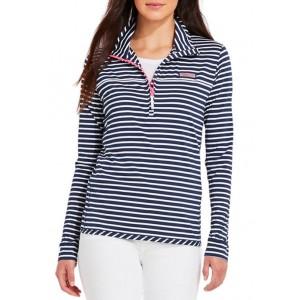 Vineyard Vines Women's Micro Stripe Lightweight Sankaty Shep Shirt