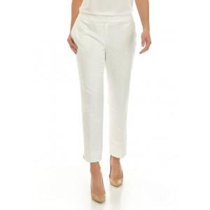Kasper Women's Floral Jacquard Slim Pants