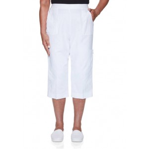 Alfred Dunner Women's Island Hopping Classic Fit Capris