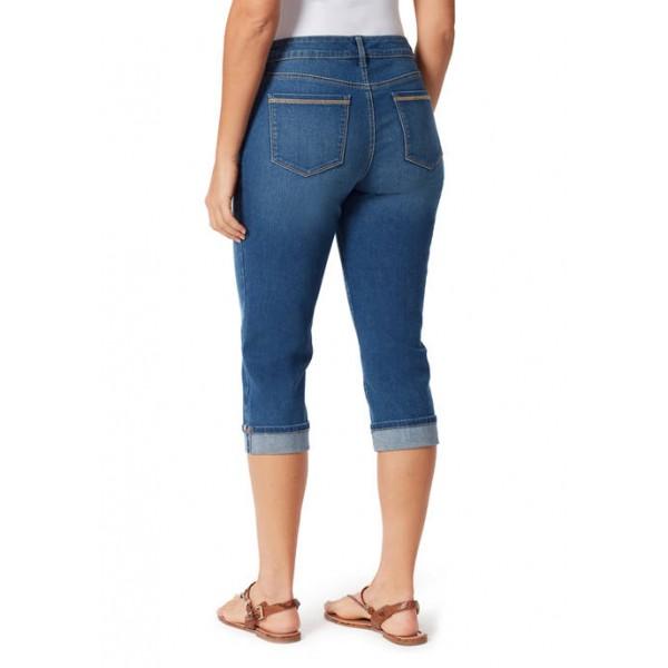 Bandolino Women's Capri Jeans with Cuffed Hem