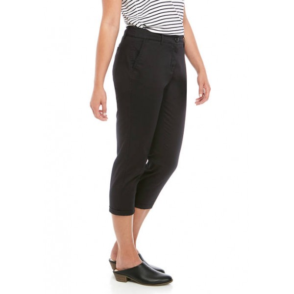 Crown & Ivy™ Women's Rolled Chino Cropped Pants