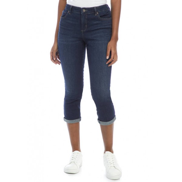 New Directions® Women's Rolled Cuff Cropped Jeans