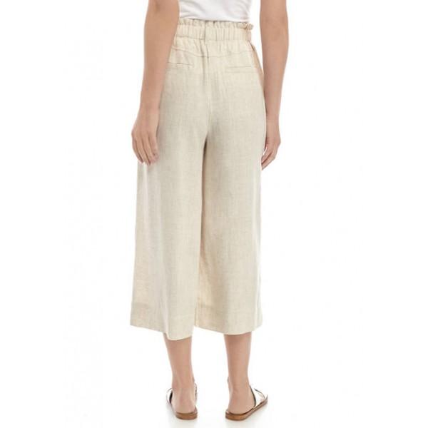 Ruby Rd Women's Solid Linen Capri Pants