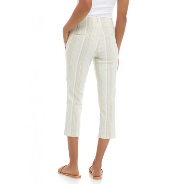 SOHO APPAREL Women's Linen Stripe Pants