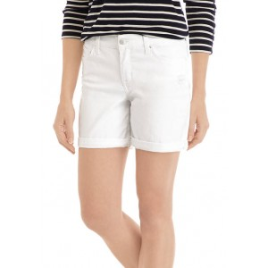 Crown & Ivy™ Women's 5 Inch Double Rolled Destructed Shorts