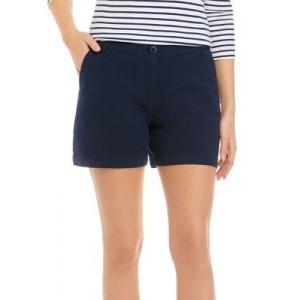 Crown & Ivy™ Women's 5 Inch Yarn Dye Shorts