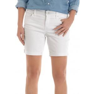 Crown & Ivy™ Women's 7 Inch Raw Hem Shorts