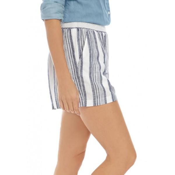 Crown & Ivy™ Women's Smocked Yarn Dye Soft Shorts