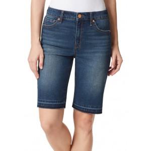 Frayed Denim Bermuda Shorts