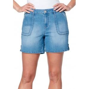 Gloria Vanderbilt Women's Tab Hem Shorts