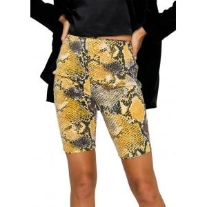 Grey Lab Python Sequin Biker Shorts