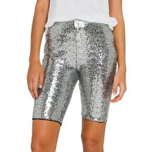 Grey Lab Women's Sequin Biker Shorts