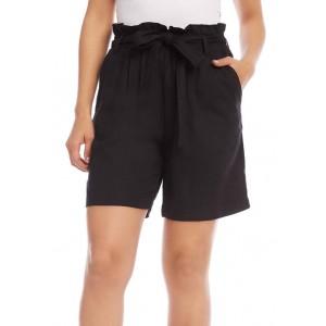 Karen Kane Women's Paper Bag Waist Shorts