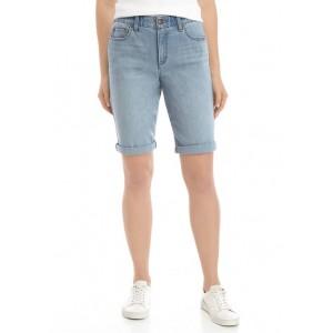Kim Rogers® Women's Rolled Cuff Denim Bermuda Shorts