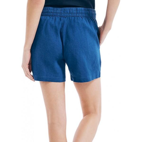 Nautica Women's 5 Inch Linen Shorts