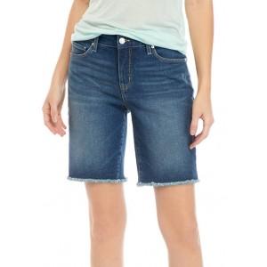 New Directions® Women's Raw Hem Midi Shorts
