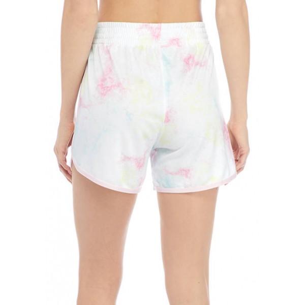 ZELOS Tie Dye Tulip Hem Shorts