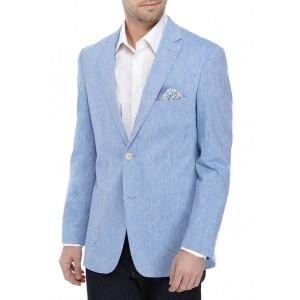 Crown & Ivy™ Blue Linen Solid Sport Coat