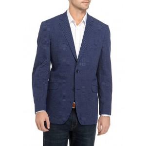 Madison Men's Blue Mini Dot Print Sport Coat