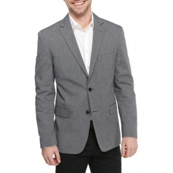 Saddlebred® Big & Tall Solid Chambray Sport Coat