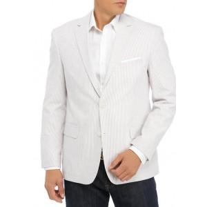 Saddlebred® Tan and White Seersucker Sport Coat