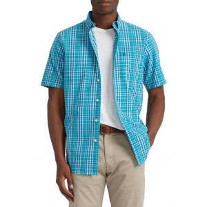 Chaps Performance Short Sleeve Easy Care Button Down Shirt