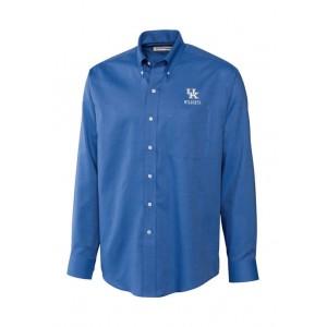 Cutter & Buck Big & Tall NCAA Kentucky Wildcats Long Sleeve Epic Easy Care Nailshead Shirt