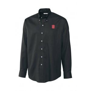 Cutter & Buck Big & Tall NCAA NC State Wolfpack Long Sleeve Epic Easy Care Nailhead Shirt