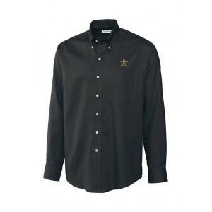 Cutter & Buck Big & Tall NCAA Vanderbilt Commodores Long Sleeve Epic Easy Care Nailshead Shirt