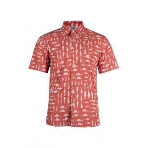 Salt Life Short Sleeve Fishy Fishy Printed Woven Shirt