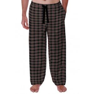 IZOD Polyester Rayon Plaid Sleep Pants