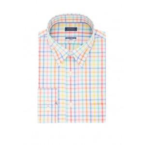 Crown & Ivy™ Long Sleeve Motion Flex Check Poplin Shirt