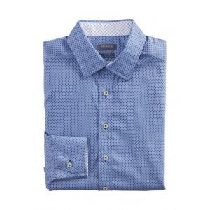 Madison  Men's Slim Untucked Check Print Button Down Collar Dress Shirt