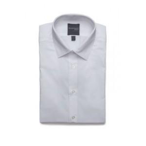 Madison White Textured Dobby Button Down Shirt
