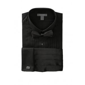 Madison Wing Top Box Black Formal Shirt
