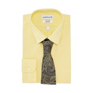 Saddlebred® Stretch Point Collar Dress Shirt with Tie