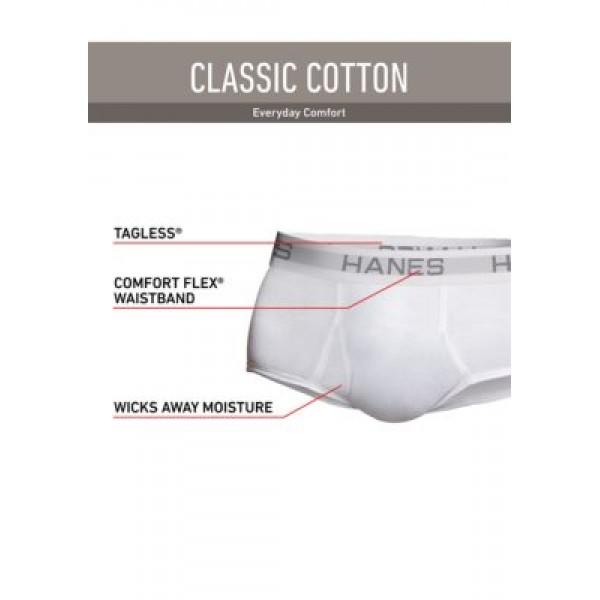 Hanes® Platinum Classic Cotton Tagless® Briefs 6 Pack