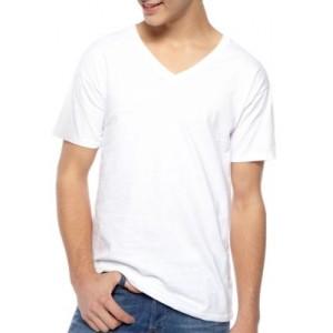 Hanes® Platinum Super Soft Cotton Tagless® V Neck T Shirts 5 Pack