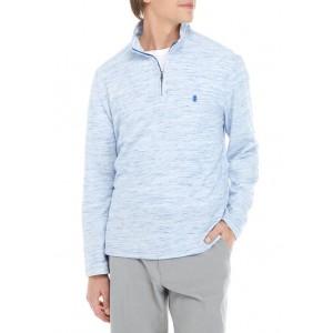 IZOD Long Sleeve Space Dye 1/4 Zip Pullover