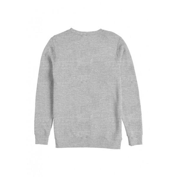 Julie and the Phantoms Curved Logo Crew Fleece Graphic Sweatshirt