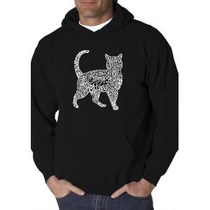 LA Pop Art Word Art Graphic Hooded Sweatshirt - Cat