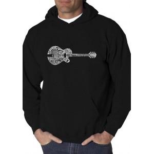 LA Pop Art Word Art Graphic Hooded Sweatshirt - Country Guitar