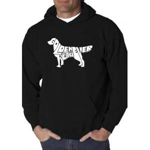 LA Pop Art Word Art Hooded Graphic Sweatshirt - Golden Retreiver