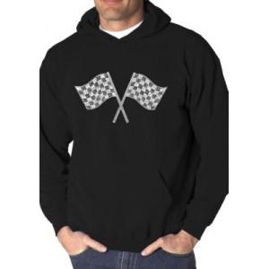 LA Pop Art Word Art Hooded Graphic Sweatshirt - NASCAR National Series Race Tracks