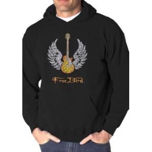 LA Pop Art Word Art Hooded Sweatshirt - Lyrics to Freebird