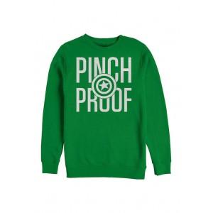 Marvel™ Marvel™ Cap Pinch Proof Graphic Crew Fleece Sweatshirt